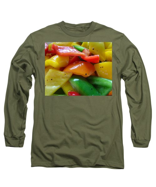 Sweet Peppers Long Sleeve T-Shirt by Jana Russon