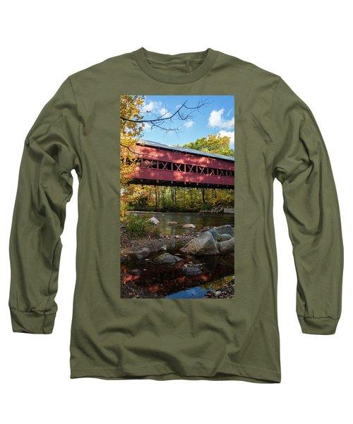 Swift River Covered Bridge Long Sleeve T-Shirt