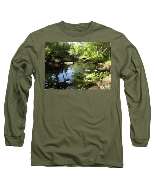 Swimmin' Hole Long Sleeve T-Shirt by Betsy Zimmerli