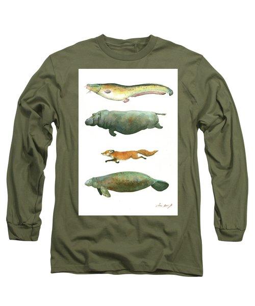 Swimming Animals Long Sleeve T-Shirt