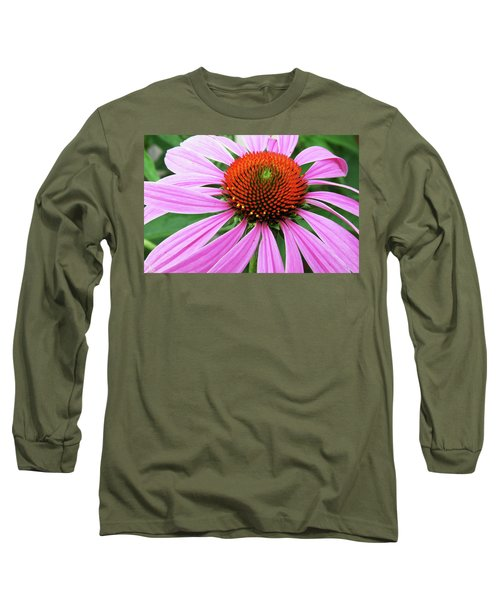 Swirling Purple Cone Flower 3576 H_2 Long Sleeve T-Shirt