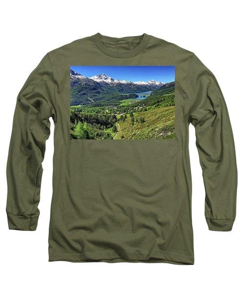 Swiss Alps And Lake Long Sleeve T-Shirt