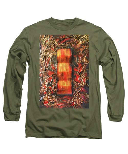 Long Sleeve T-Shirt featuring the mixed media Switch by Angela Stout