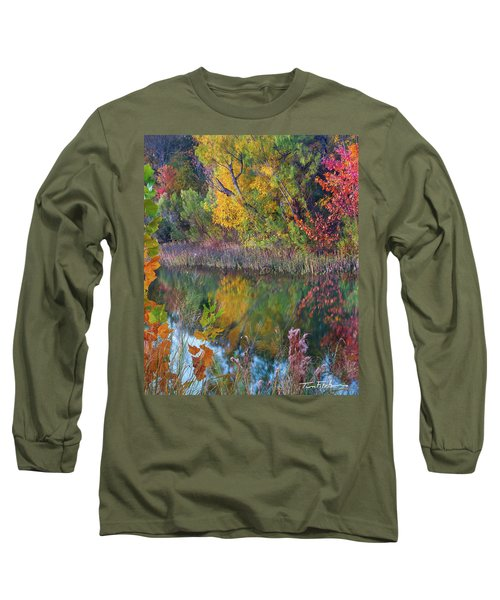 Sycamores And Willows Long Sleeve T-Shirt by Tim Fitzharris