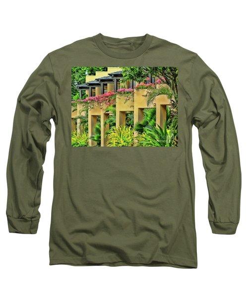 Symmetry  Long Sleeve T-Shirt by Karen Lewis