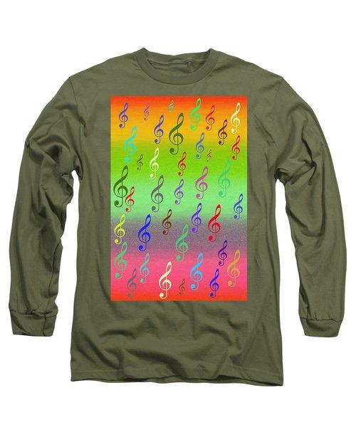 Symphony Of Colors Long Sleeve T-Shirt by Angel Jesus De la Fuente