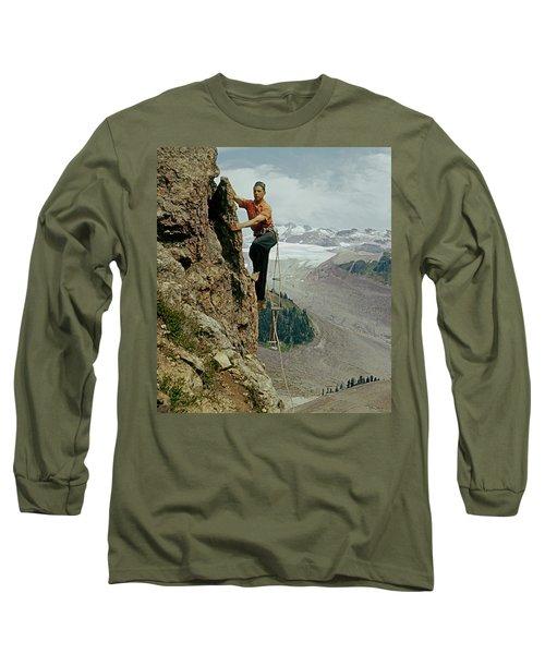 T-902901 Fred Beckey Climbing Long Sleeve T-Shirt