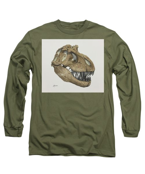 T. Rex Skull 2 Long Sleeve T-Shirt