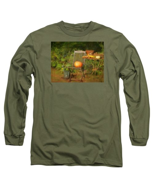 Table For One Long Sleeve T-Shirt by Colleen Taylor