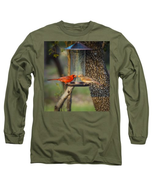 Long Sleeve T-Shirt featuring the photograph Table For Two by Debbie Karnes