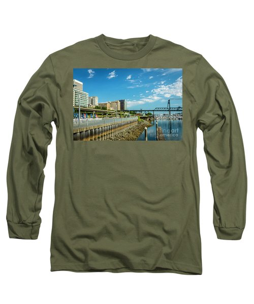 Tacoma And 11th Street Bridge Long Sleeve T-Shirt