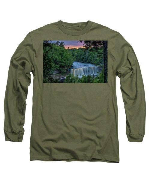 Tahquamenon Falls Sunset. Long Sleeve T-Shirt