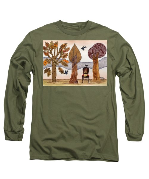 Take A Rest In Autumn Long Sleeve T-Shirt
