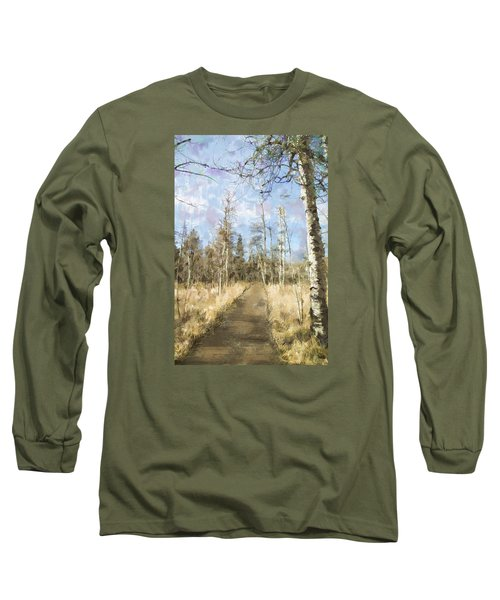 Long Sleeve T-Shirt featuring the painting Take A Walk by Annette Berglund