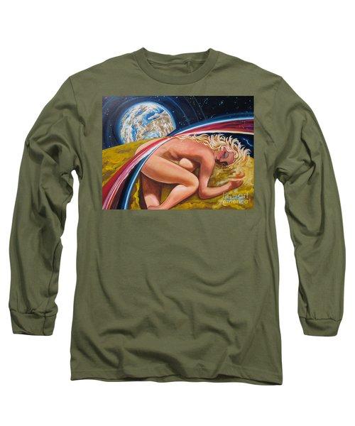 Moonresting Goddess Odins Wife   Long Sleeve T-Shirt