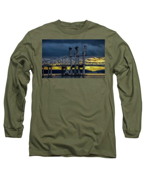 Tale Of 2 Bridges At Sunset Long Sleeve T-Shirt by Jeffrey Friedkin