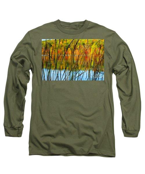 Tall Grass Abstract Long Sleeve T-Shirt