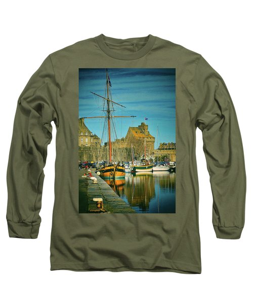 Tall Ship In Saint Malo Long Sleeve T-Shirt
