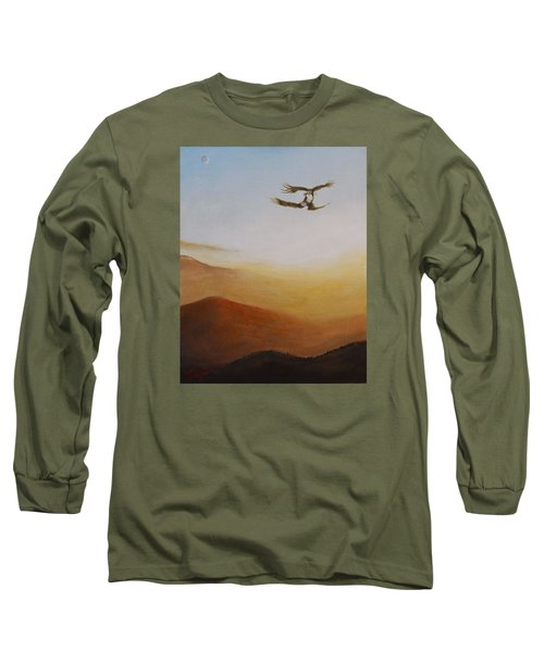 Long Sleeve T-Shirt featuring the painting Talon Lock by Dan Wagner