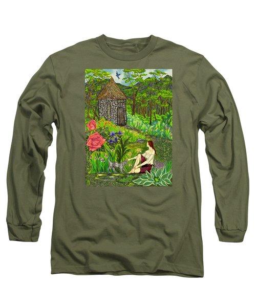 Tansel's Garden Long Sleeve T-Shirt by FT McKinstry
