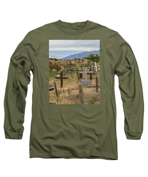 Taos Pueblo Cemetery Long Sleeve T-Shirt