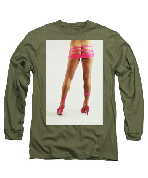 Tape And Heels Long Sleeve T-Shirt by Robert WK Clark