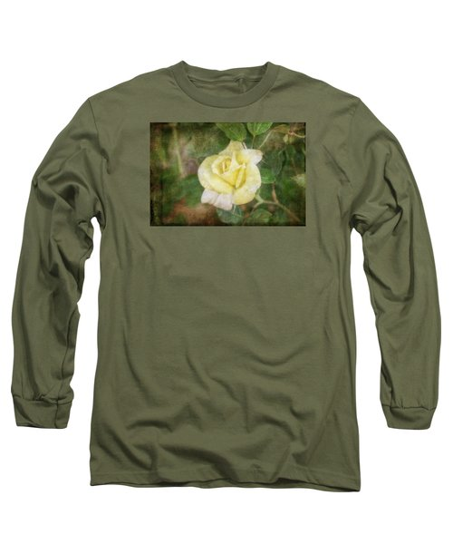 Long Sleeve T-Shirt featuring the photograph Tapestry Rose by Joan Bertucci