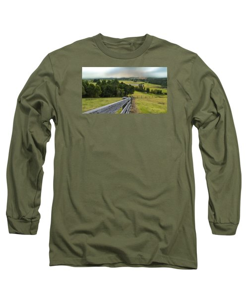 Long Sleeve T-Shirt featuring the photograph Taree West 01 by Kevin Chippindall