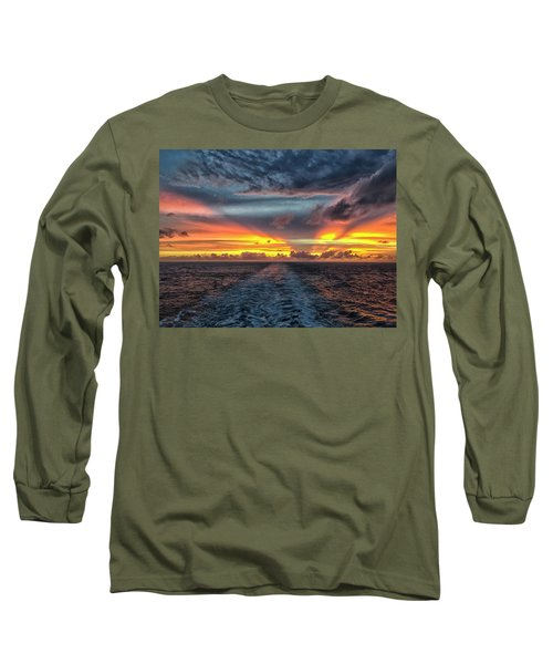 Tasman Sea Sunset Long Sleeve T-Shirt