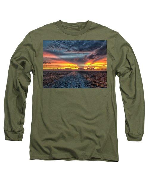 Tasman Sea Sunset Long Sleeve T-Shirt