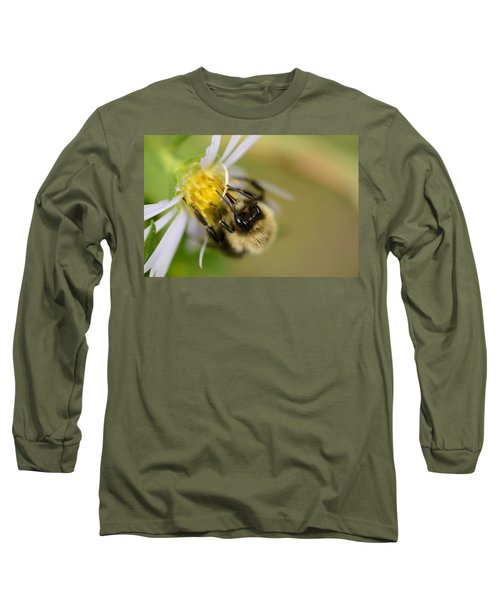 Tasting The Flower Long Sleeve T-Shirt by Janet Rockburn