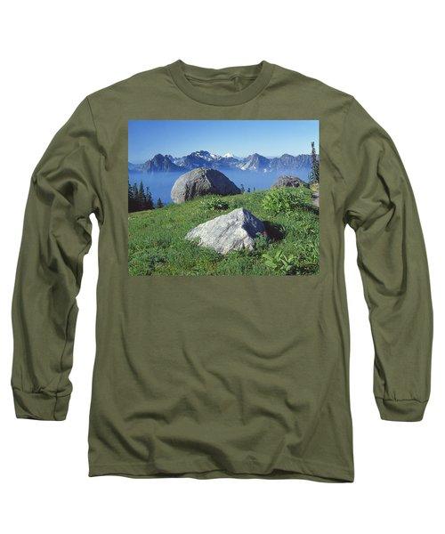 1m4862-tatoosh Range And Mt. St. Helens  Long Sleeve T-Shirt