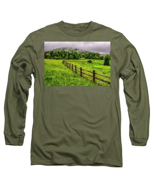 Tea Creek Meadow And Buttercups Long Sleeve T-Shirt
