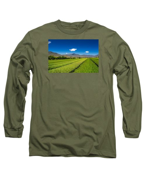 Tea In The Valley Long Sleeve T-Shirt by Mark Lucey