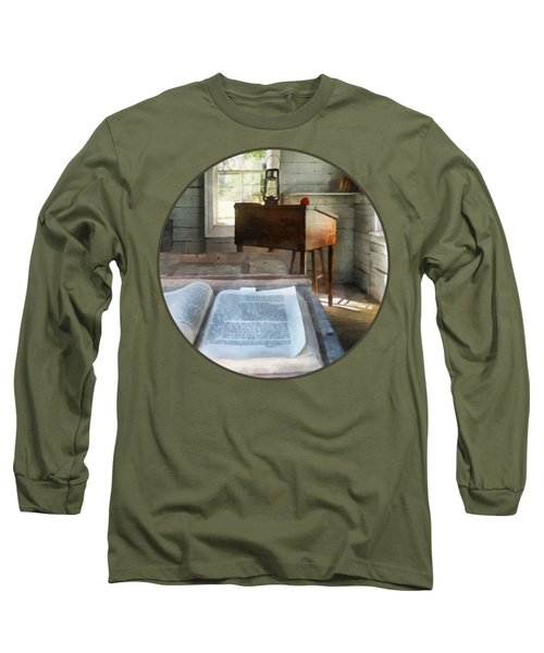Teacher - One Room Schoolhouse With Book Long Sleeve T-Shirt