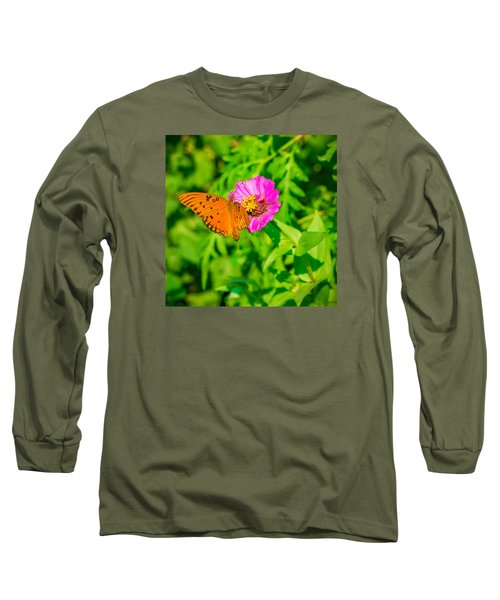 Teacup The Butterfly Long Sleeve T-Shirt by Ken Stanback
