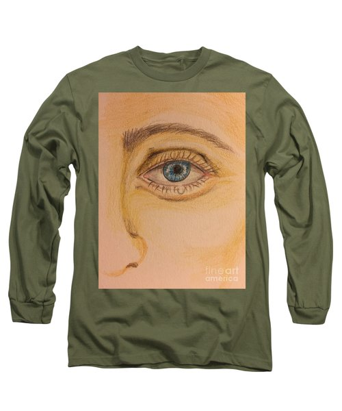 Tear Drop Long Sleeve T-Shirt