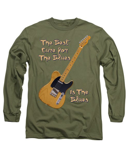Tele Blues Cure Long Sleeve T-Shirt by WB Johnston