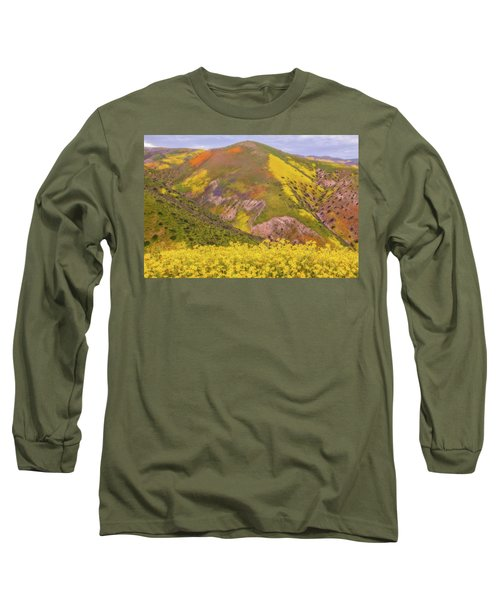 Long Sleeve T-Shirt featuring the photograph Temblor Range Color by Marc Crumpler