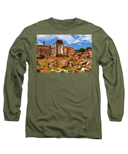 Temple Of Vesta Long Sleeve T-Shirt by Anthony Dezenzio