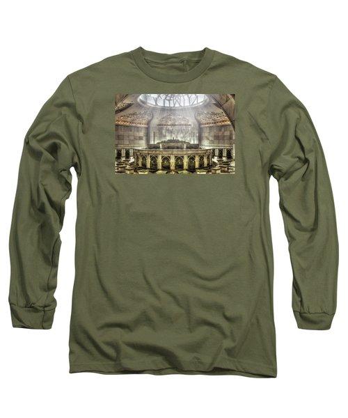 Temple Washroom Long Sleeve T-Shirt by John Swartz