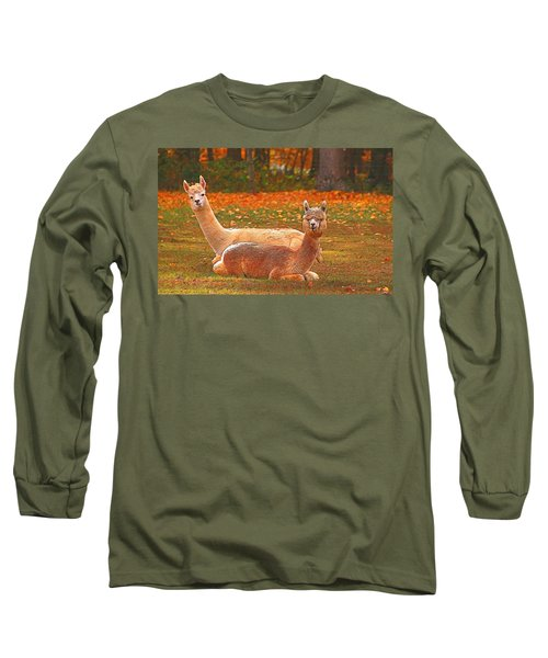 Teribus And Major Long Sleeve T-Shirt by Allen Beatty
