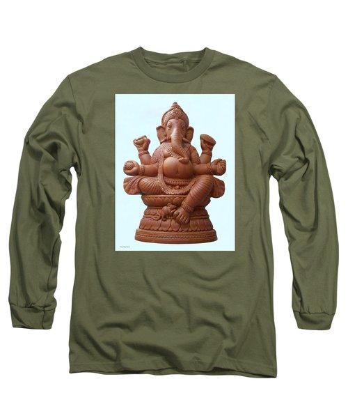 Terra - Cotta Ganapati Long Sleeve T-Shirt