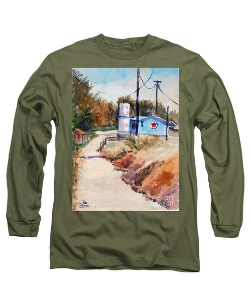 Long Sleeve T-Shirt featuring the painting Texaco by Ron Stephens