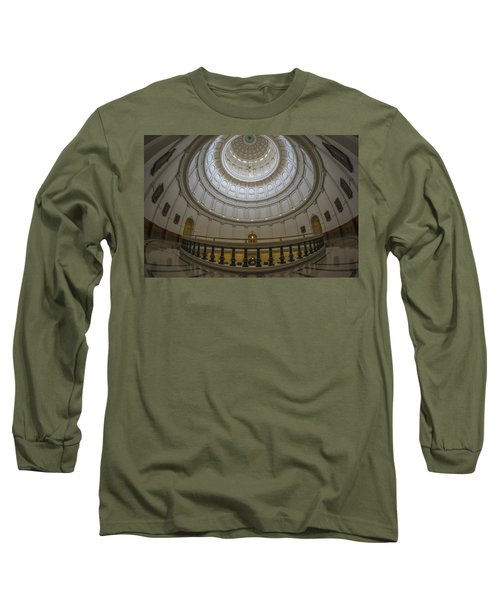 Texas Capitol Dome Wide Angle Long Sleeve T-Shirt