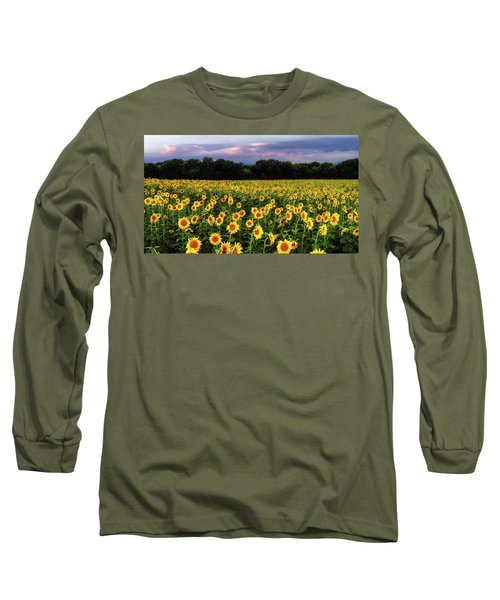 Texas Sunflowers Long Sleeve T-Shirt