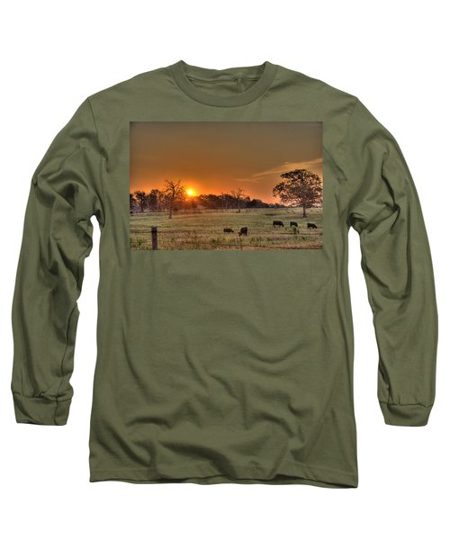 Texas Sunrise Long Sleeve T-Shirt by Barry Jones