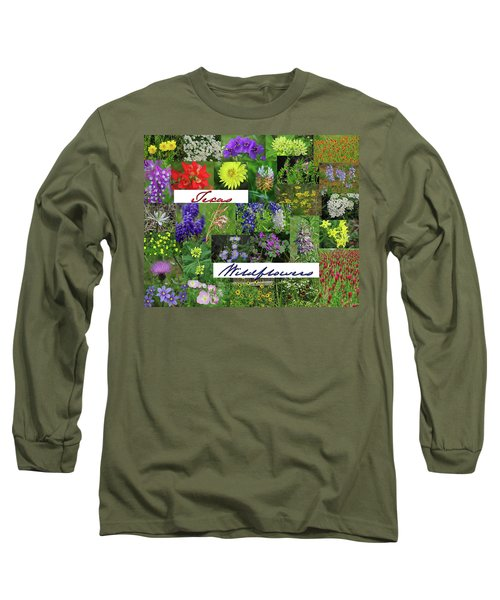 Texas Wildflower Collage Long Sleeve T-Shirt