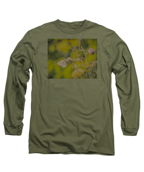 Textured Butterfly 1   Long Sleeve T-Shirt by Leif Sohlman