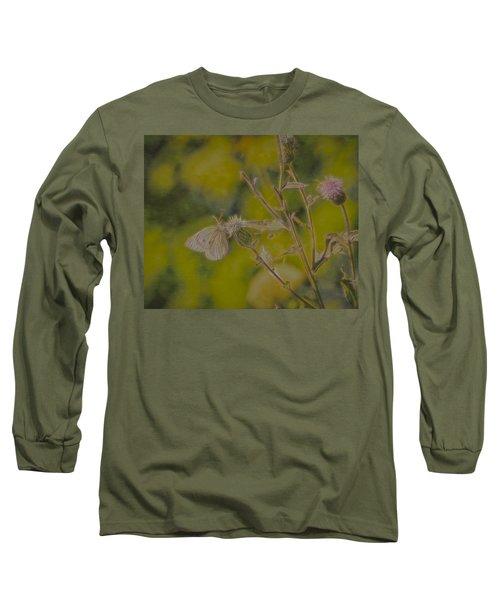 Textured Butterfly 1   Long Sleeve T-Shirt